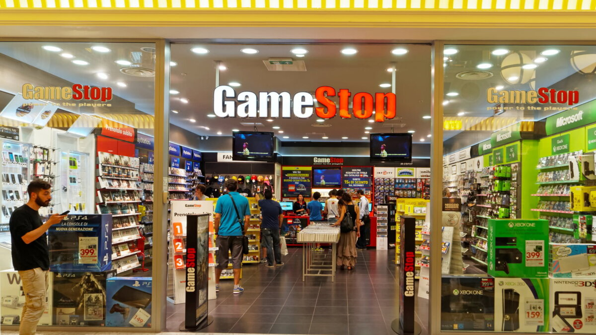 GameStop логотип магазин по продаже видеоигр один