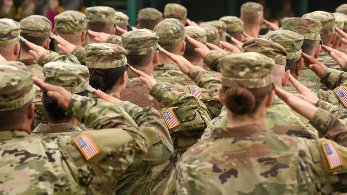 Солдаты США армия построение два