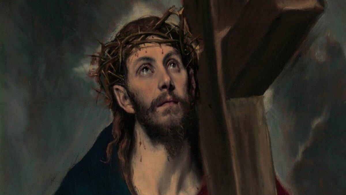 Картина Эль Греко Христос несущий крест