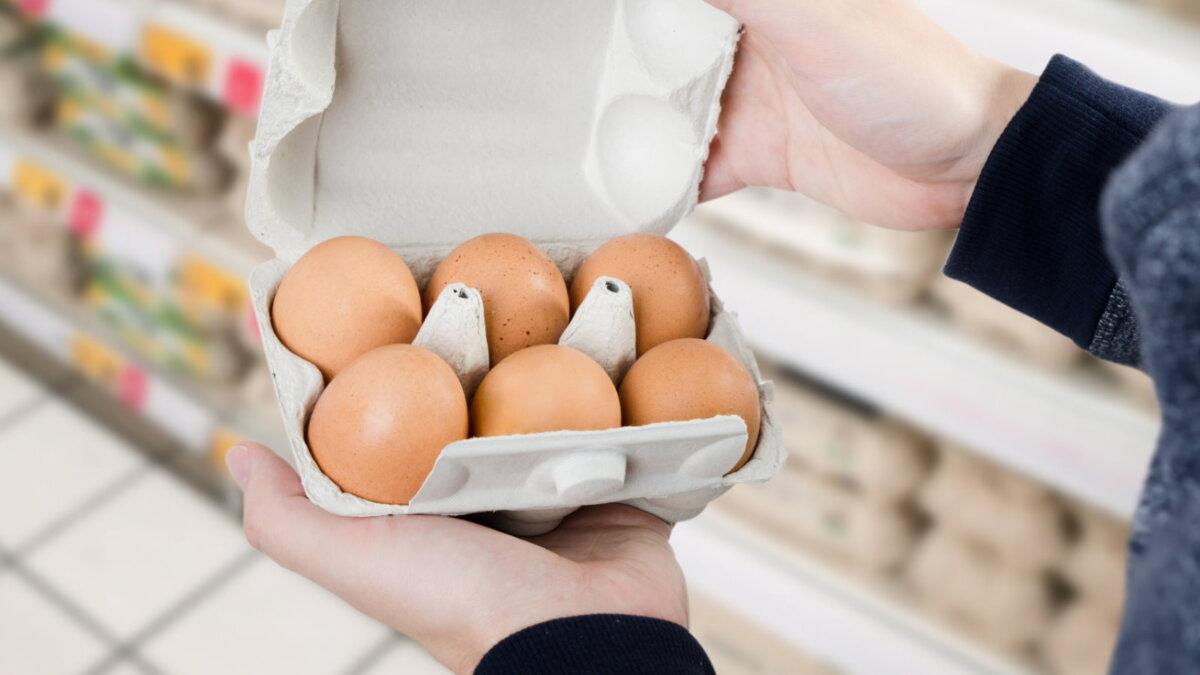 Яйца магазин шесть