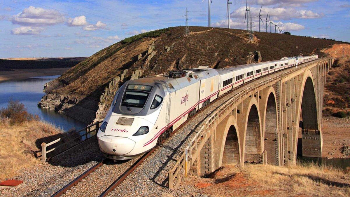 скоростная железная дорога поезд