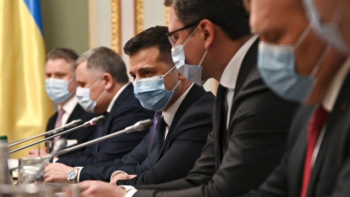 Владимир Александрович Зеленский на совещании украина