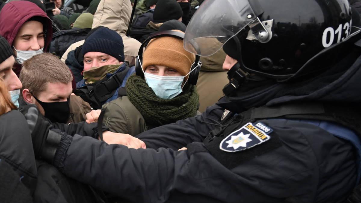 Украина полиция протесты