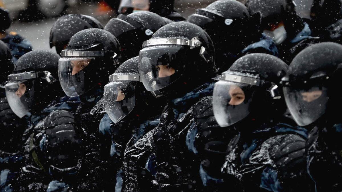 Россия полиция протесты зима один