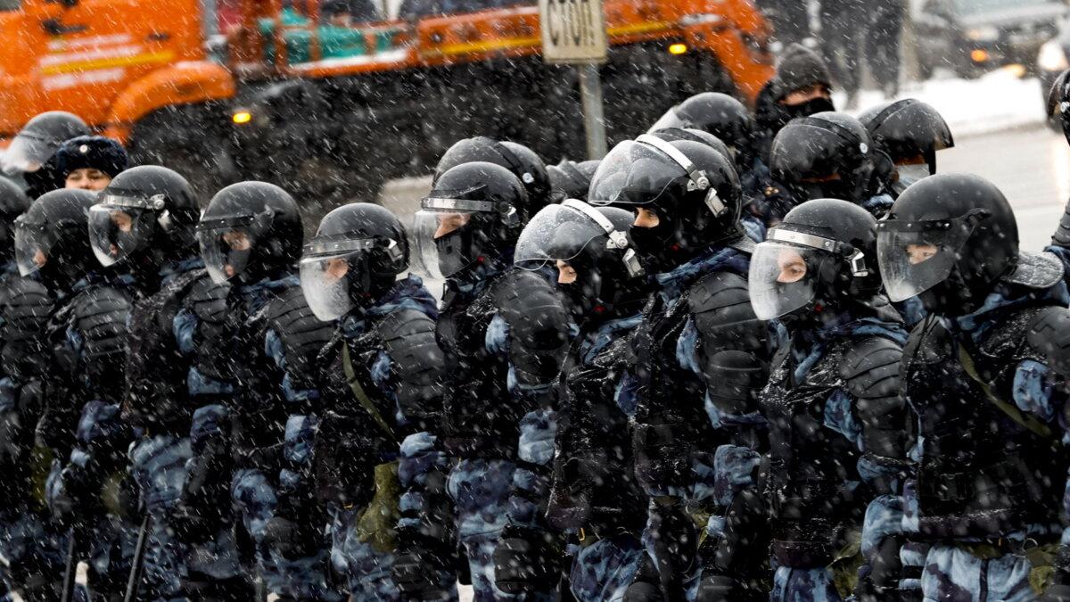 Россия полиция протесты зима два