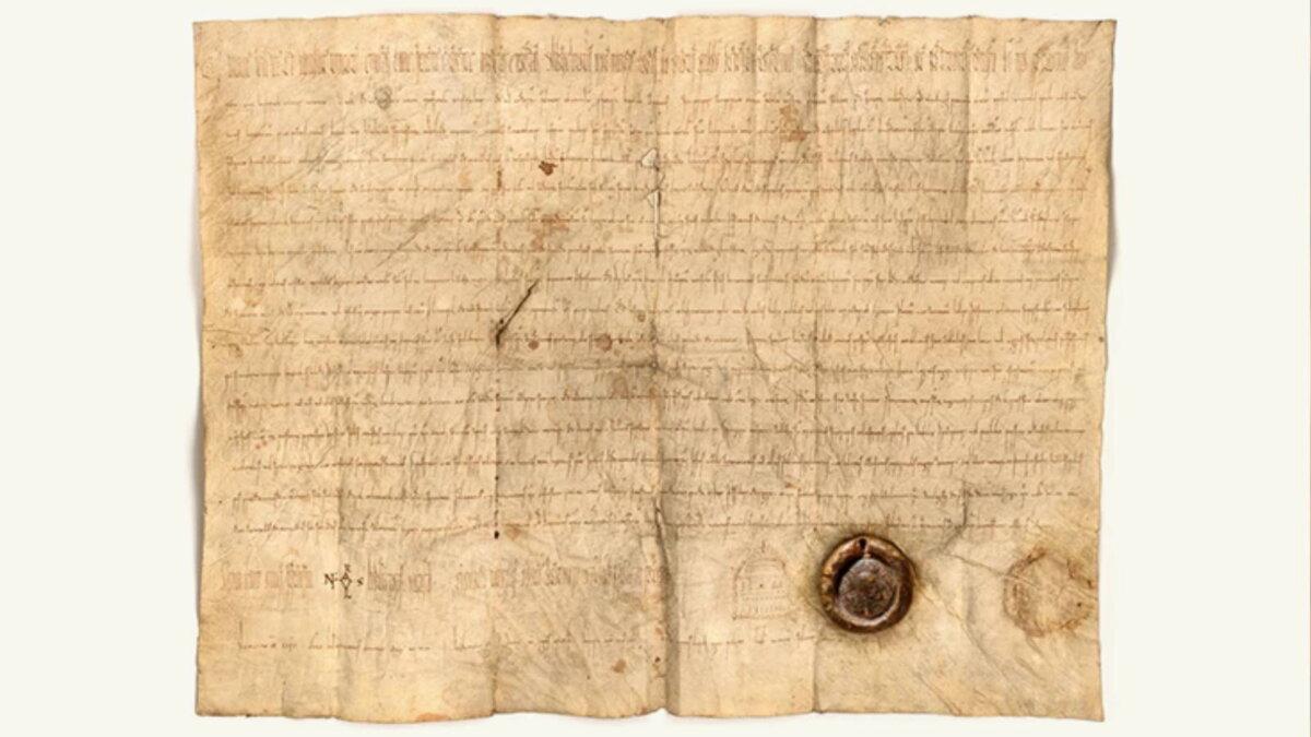 Поддельная привилегия от императора Каринтии Арнульфа средневековый документ