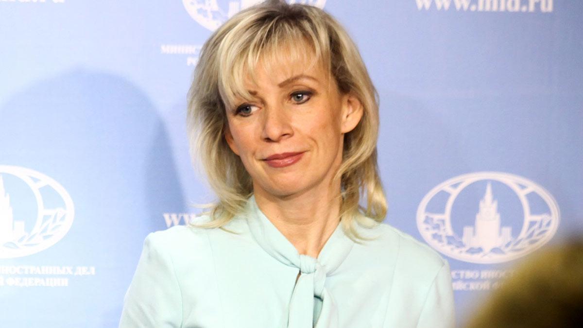 официальный представитель МИД России Мария Захарова крупно улыбка