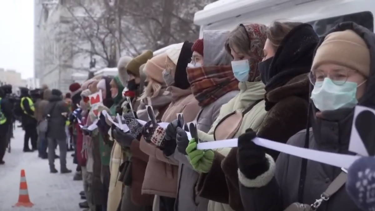 Москва протесты цепь солидарности Навальный