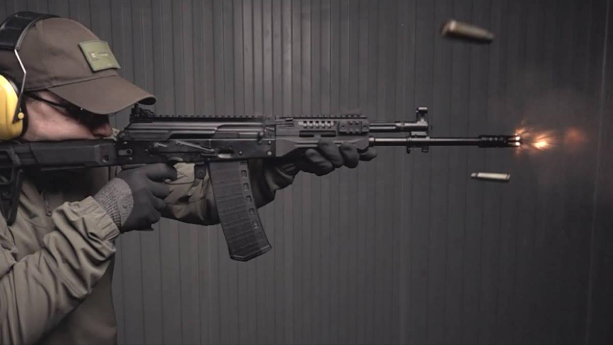 Автомат АК-19 Калашникова под патрон 5-56 мм НАТО стрельба