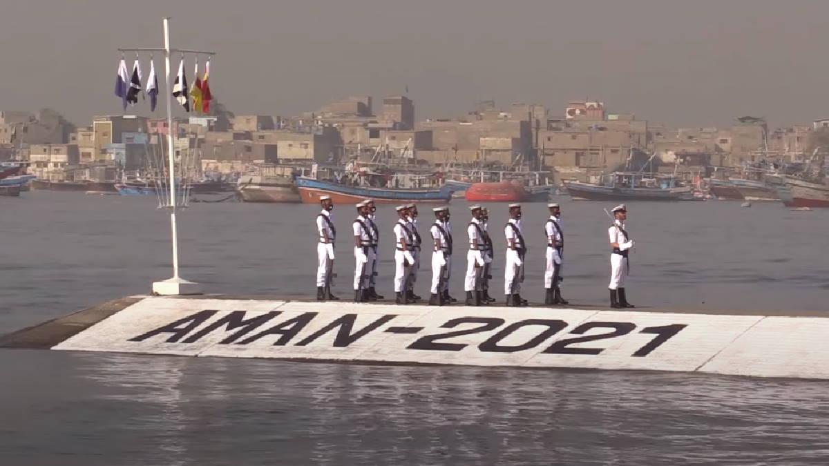 Военно-морские учения AMAN-2021 Аман-2021