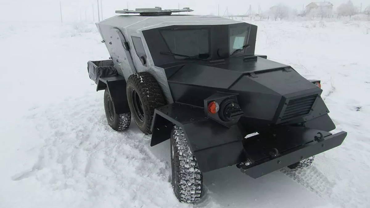 Аэромобильная лёгкая бронемашина Ласок 4-П