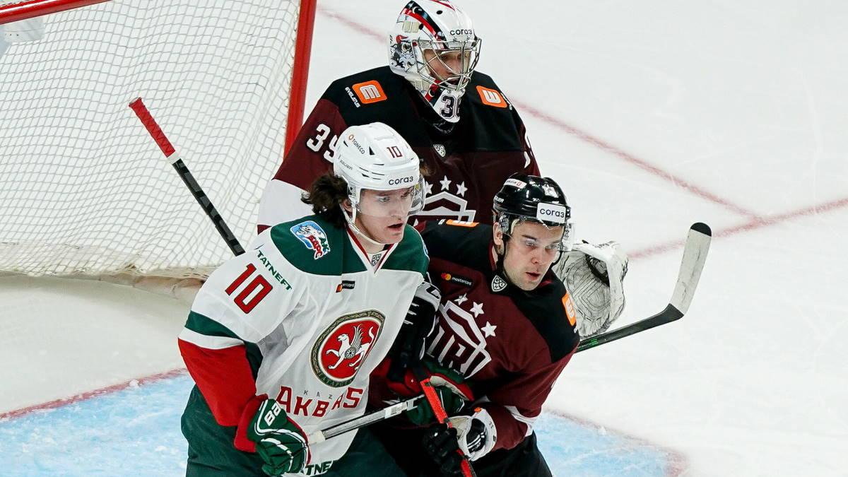 Казанский Ак Барс - рижское Динамо хоккей