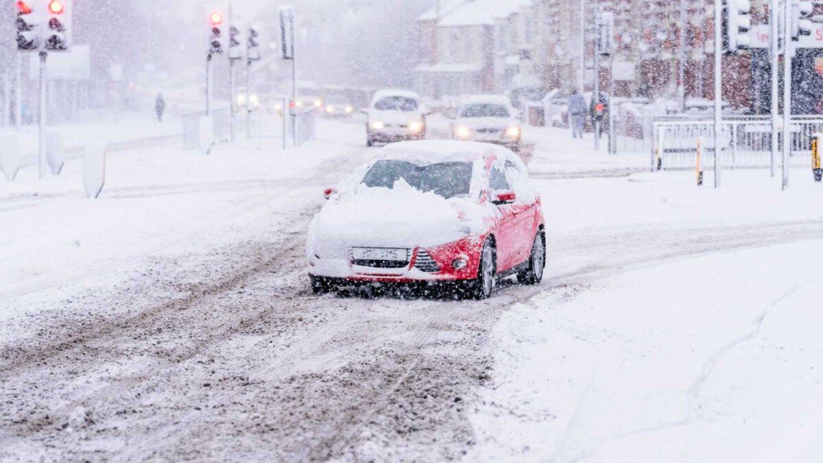 Автомобиль снег плохие погодные условия