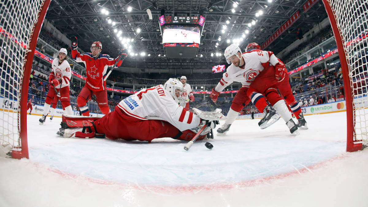 Московский ЦСКА - подольский Витязь хоккей