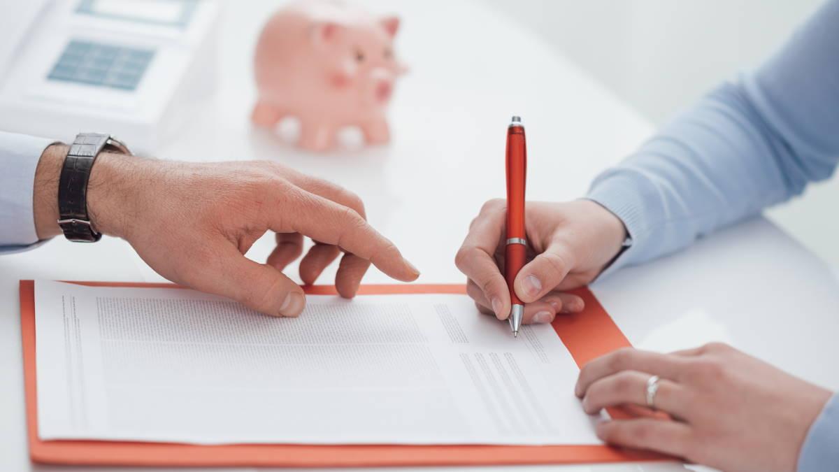 Банк кредит заём подпись подписывать документ контракт финансы