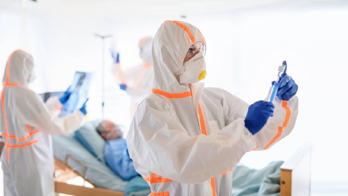 Коронавирус врачи пациент больница один