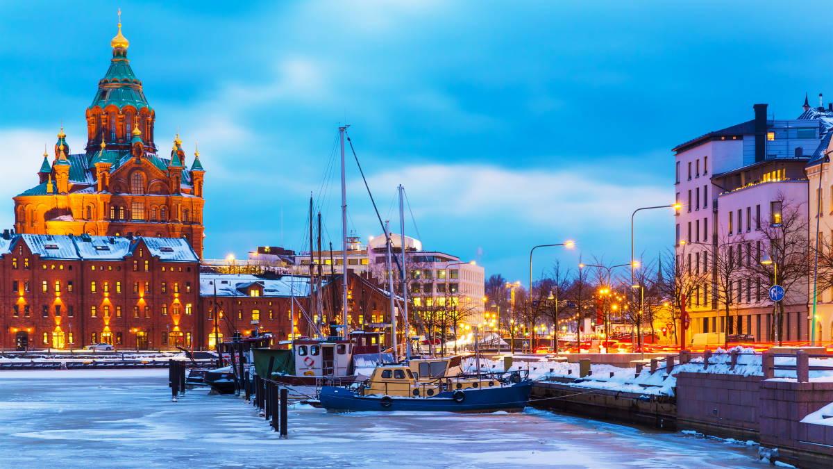 Хельсинки Финляндия зима туризм