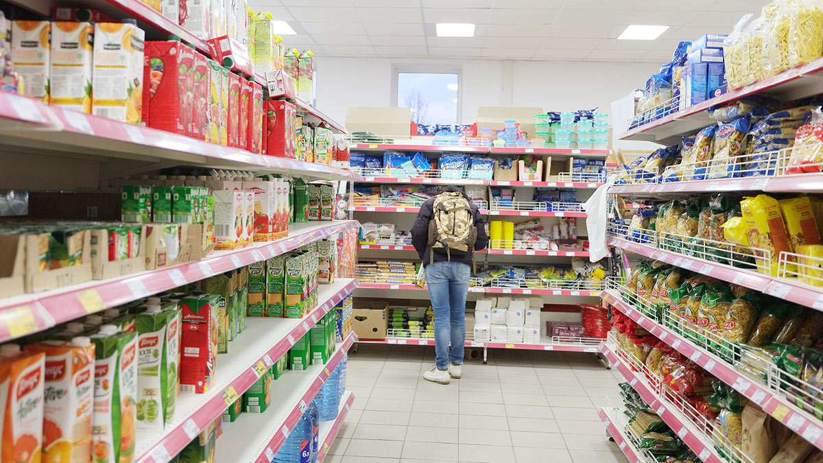 Продуктовый магазин покупатель цены товары