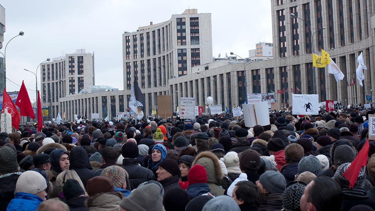 несогласованная акция митинг москва протестующие толпа