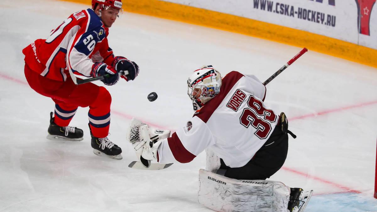 Рижское Динамо - московский ЦСКА хоккей