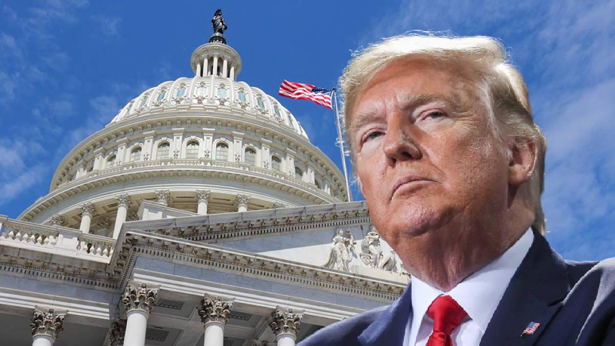 Дональд Трамп и Капитолий сенат конгресс США импичмент