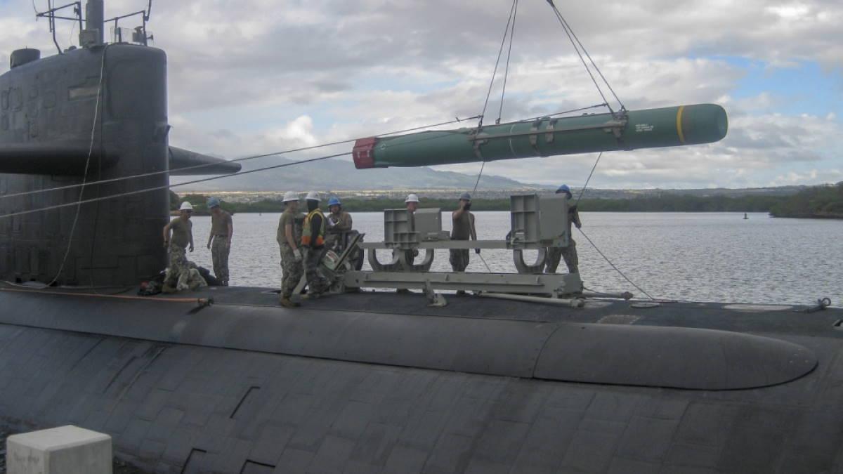 Противокорабельная крылатая ракета Harpoon - Гарпун подводная лодка USS Olympia SSN-717