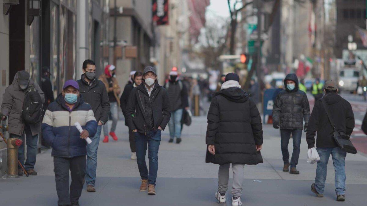 Люди улица маски толпа