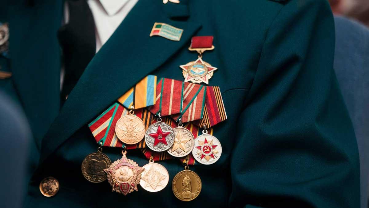 Медали ветеранов войны