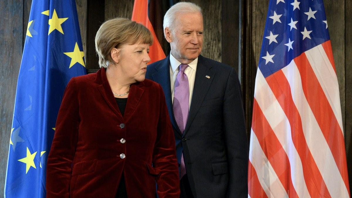 Ангела Меркель и Джозеф Байден