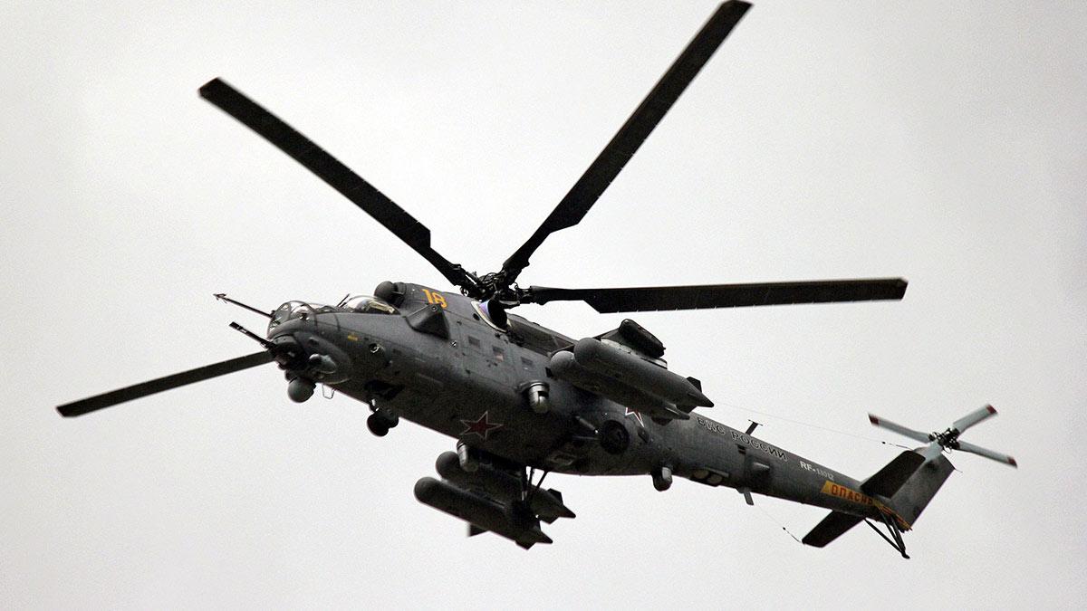 Mi-35M вертолет ми-35м в воздухе