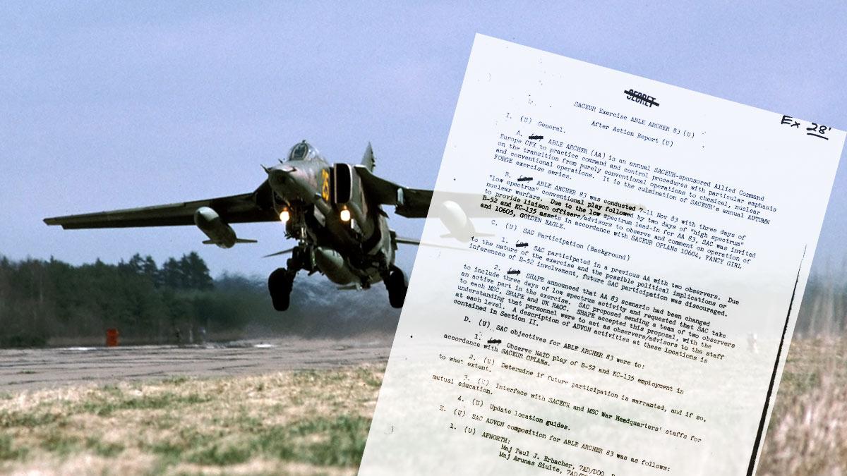 бомбардировщик МИГ-27 взлет бомбы able archer