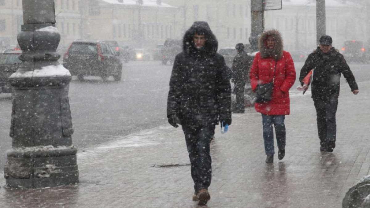 Москва мокрый снег гололедица