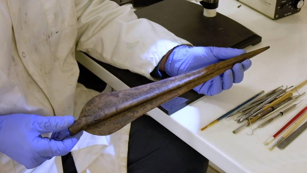 Наконечник копья Джерси археология