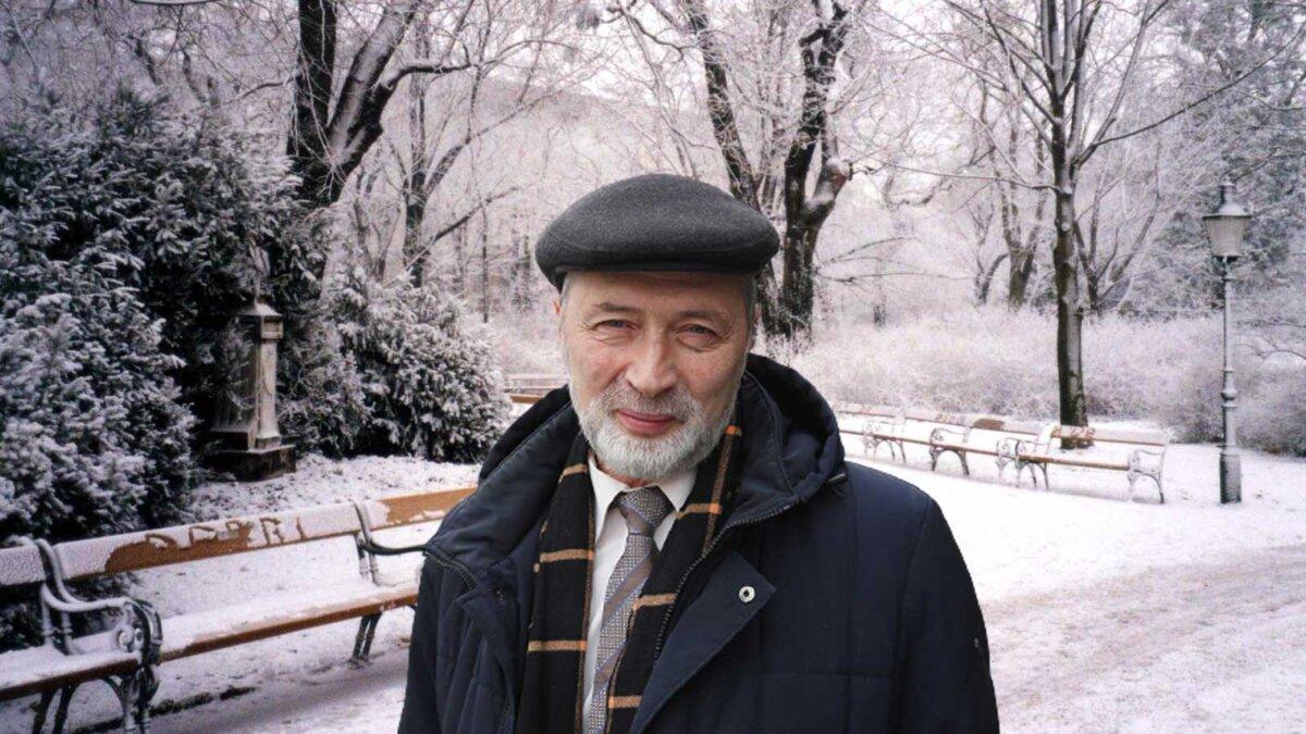 Роман Вильфанд парк снег мороз