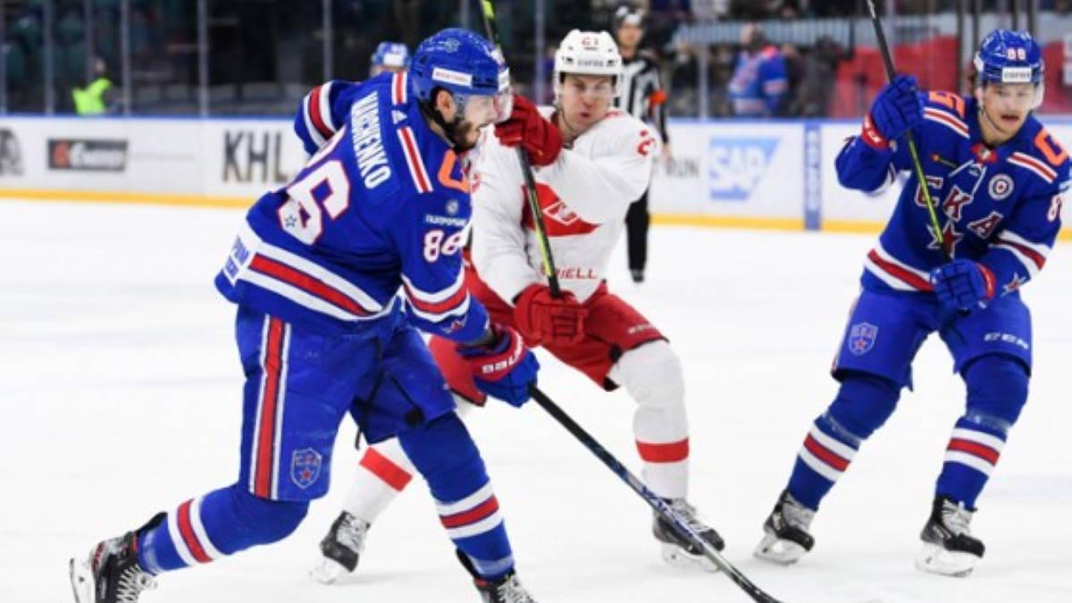 Петербургский СКА – московский Спартак хоккей