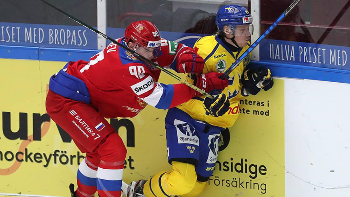 Сборная России - сборная Швеции