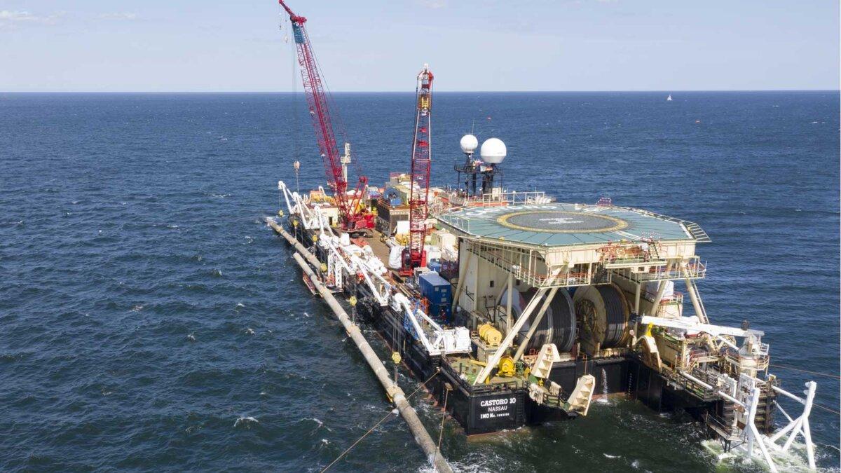 Строительство газопровода Северный поток 2
