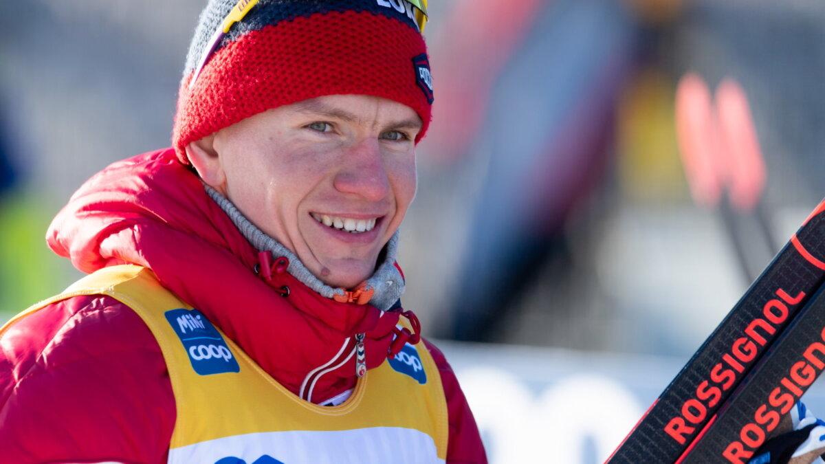 Лыжник Александр Большунов пять