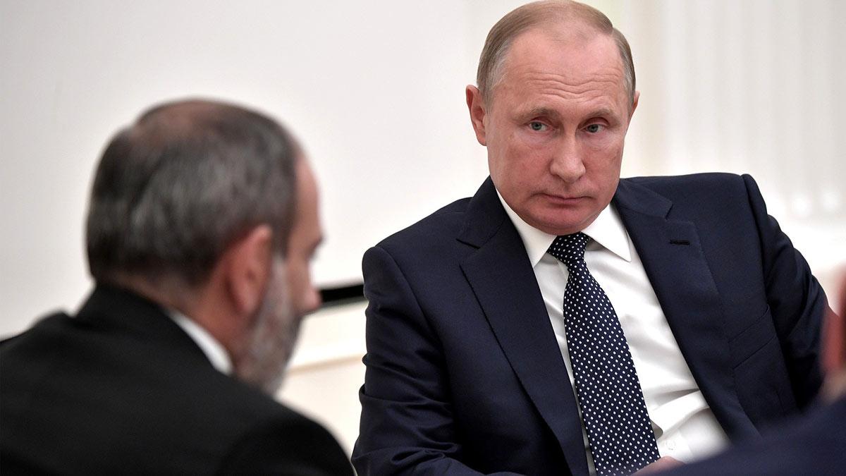 Владимир Путин и Никол Пашинян совещание встреча