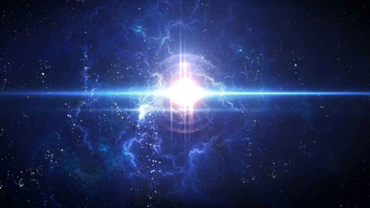 Звезда космос вспышка