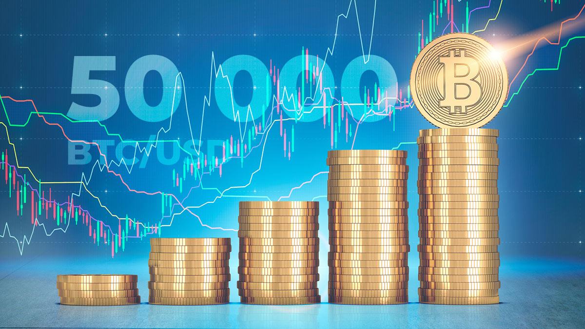биткоин криптовалюты 50 000 долларов рост