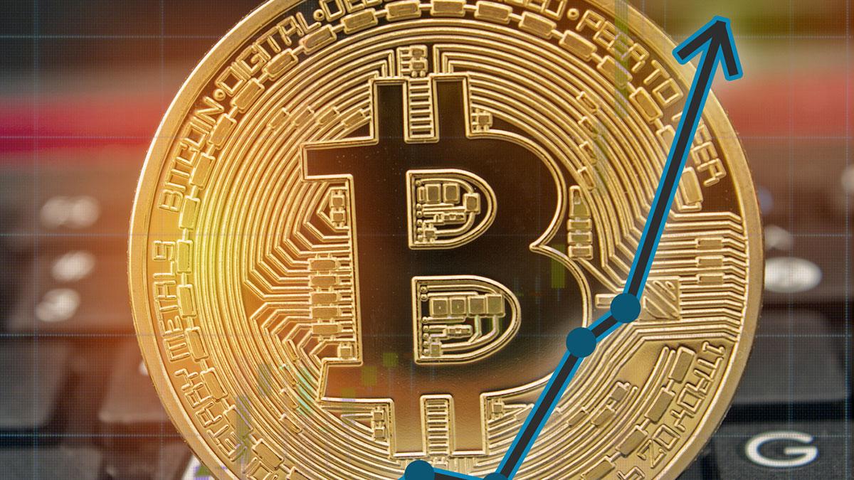 биткоин рост цены криптовалюты стрелка вверх максимум