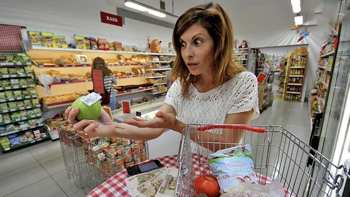 дорогие продукты в магазине