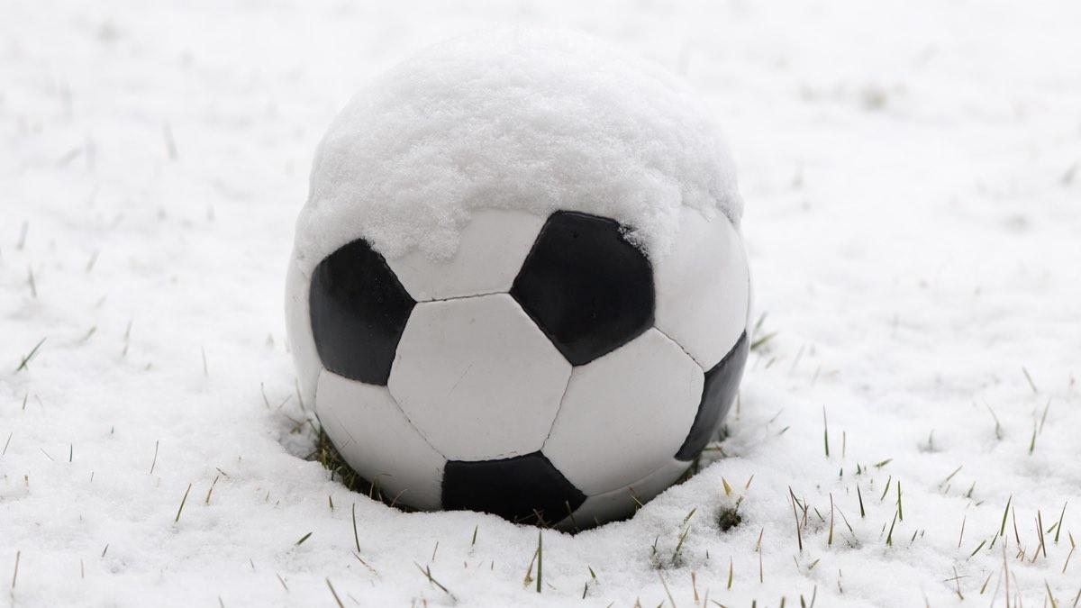 футбол в мороз