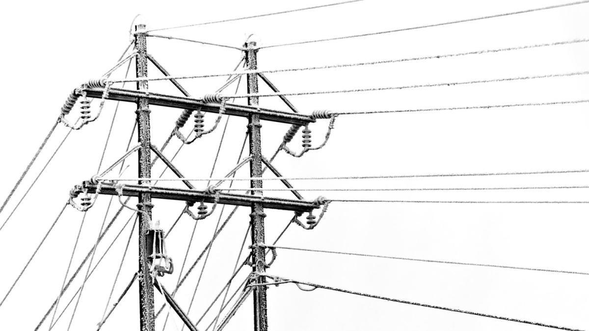 ЛЭП США зима провода замерзли