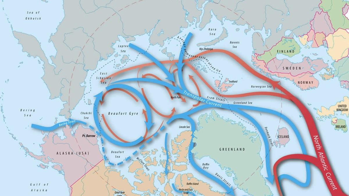 карта течений в арктике