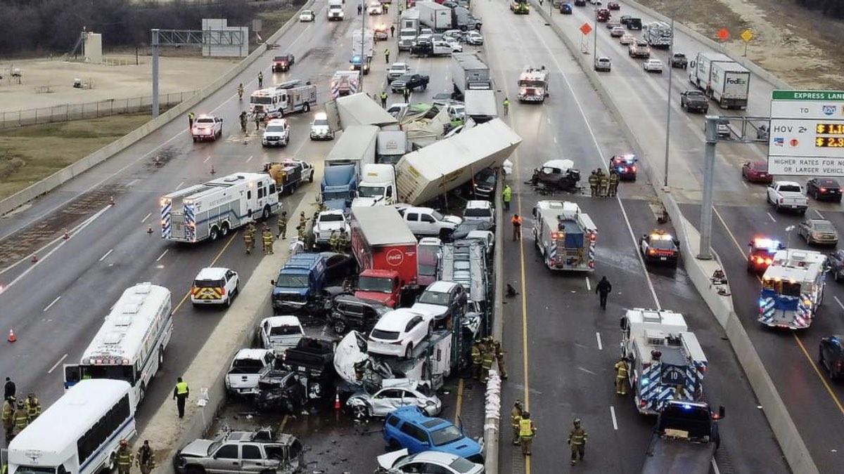 крупная авария в Техасе 2021
