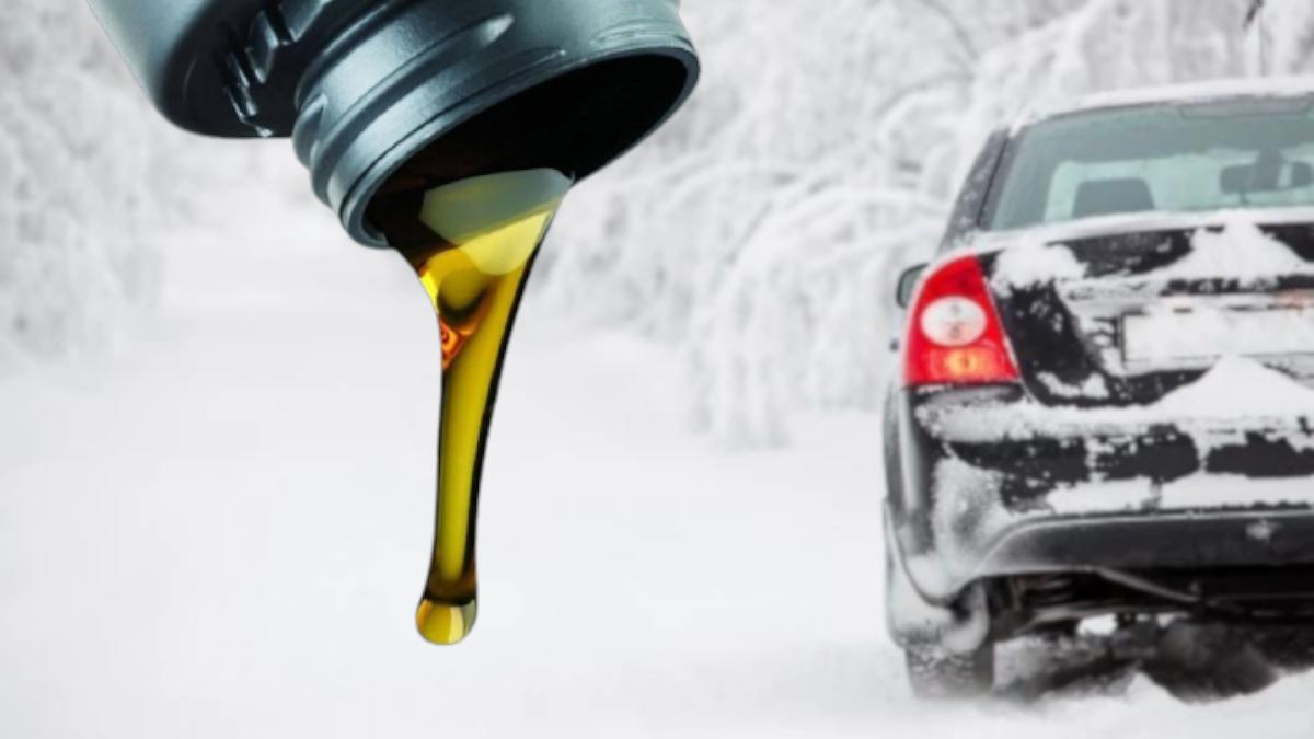 машинное масло зимой
