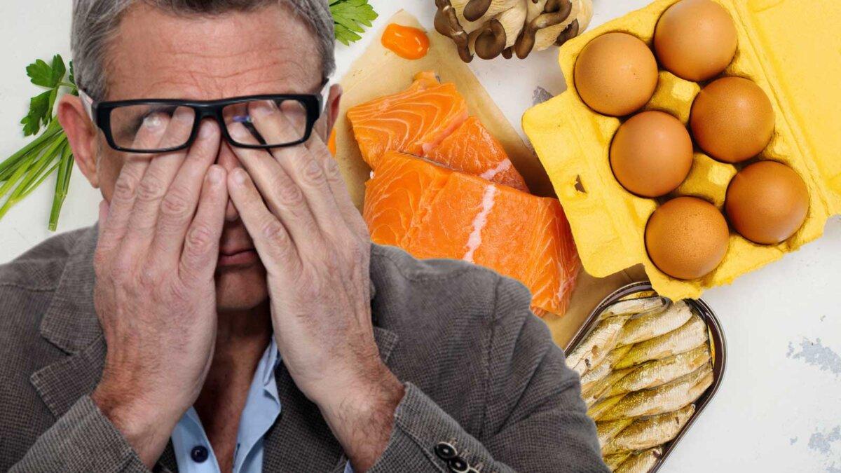 мужчина болят глаза продукты витамин D