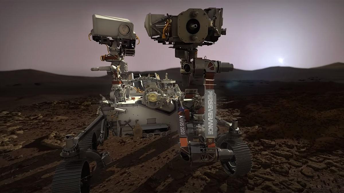 Наса ровер марсоход Perseverance высадка на марс исследование планеты